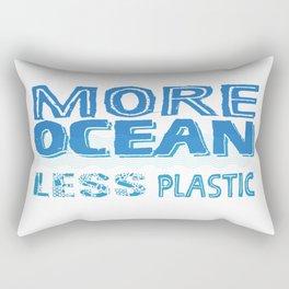 More Ocean Less Plastic Rectangular Pillow