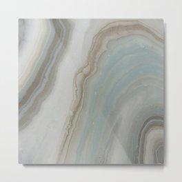 Geode in Blue Metal Print