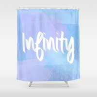 water colour Shower Curtains featuring Water Colour Infinity  by Ladsandstuff