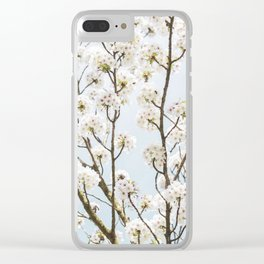 Flowering Springtime Hawthorn tree. Clear iPhone Case