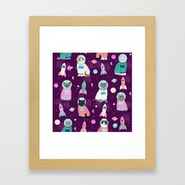 Space Cats pet portraits cute cat gifts cat lady outer space cadet rockets Framed Art Print