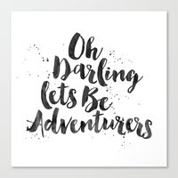adventure is out there Canvas Prints featuring Adventure  by Nina & Charlotte