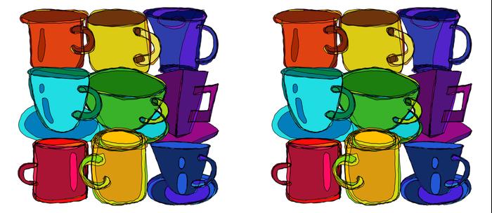 Tea Cups and Coffee Mugs Spectrum Coffee Mug