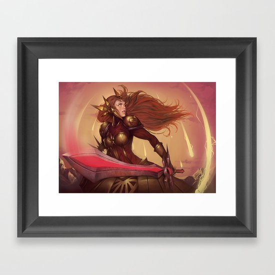 THE RADIANT DAWN Framed Art Print