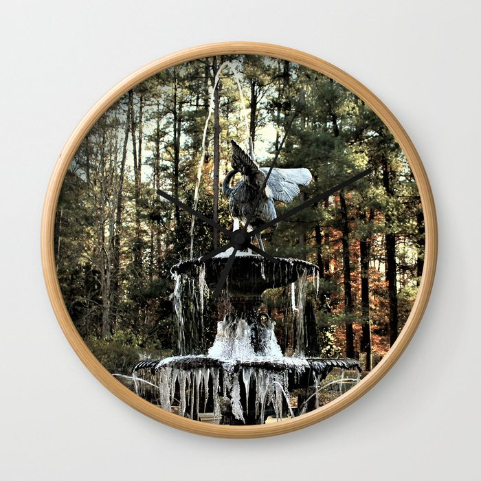 Winter's Lace Wall Clock
