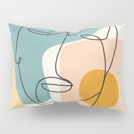 Abstract Face 25 Pillow Sham
