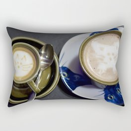Cats on the coffee Rectangular Pillow