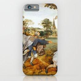 "Pieter Bruegel (also Brueghel or Breughel) the Elder ""The Blind Leading the Blind"" iPhone Case"