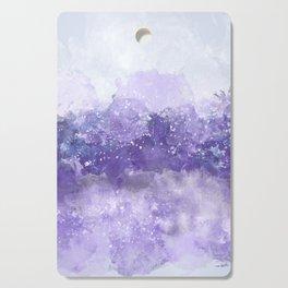 Choppy Purple Ocean Water Cutting Board