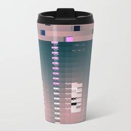 dirtypink glitch Metal Travel Mug