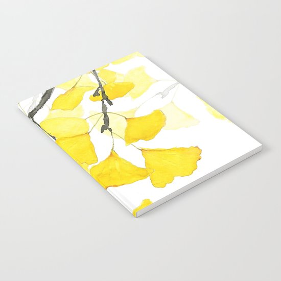 Golden Ginkgo Leaves Notebook