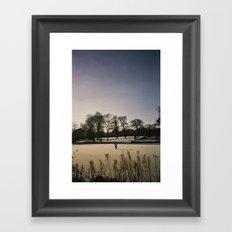 Ice Skater, Blickling Lake, Norfolk Framed Art Print