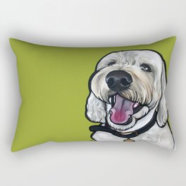 Kermit the labradoodle Rectangular Pillow