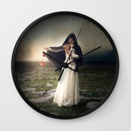For those with eyes - Fine art magical portrait Wall Clock