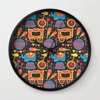 circus Wall Clocks featuring Circus by haidishabrina
