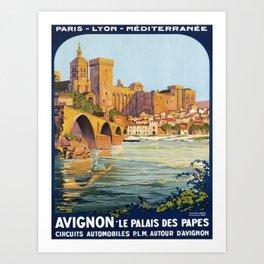 retro Avignon Art Print