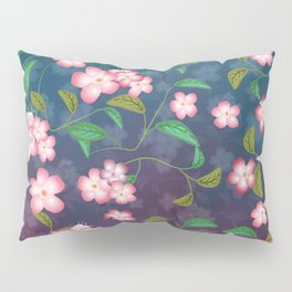 Cherry Blossoms and Leaves Pillow Sham