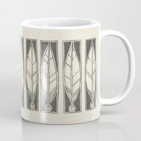 ethnic Mugs featuring Ethnic Feathers by rob art | simple