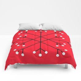 Mod Snowflake Dark Cherry Comforters