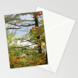 Columbia Rover Gorge Washington Trees in Autumn Stationery Cards