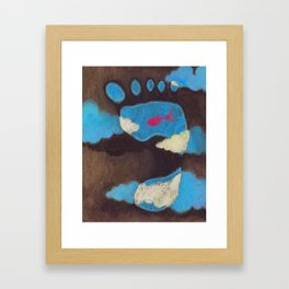 Red Goldfish in My Footprint Framed Art Print