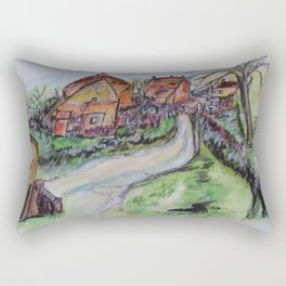 Village Back Street Rectangular Pillow