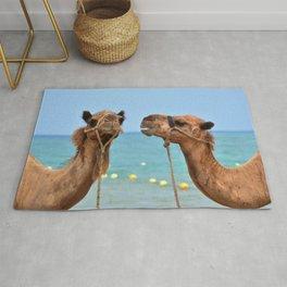 Beach camels Rug