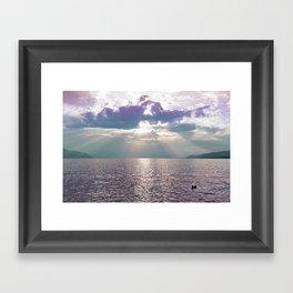 Kiss in the Lake Framed Art Print