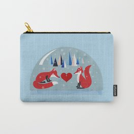 Christmas foxes in love Carry-All Pouch