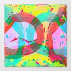 pastel color rings  Canvas Print