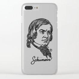 Robert Schumann composer portrait Clear iPhone Case
