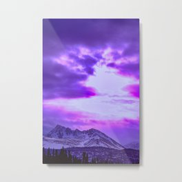 Chugach Mountains in Purple Metal Print