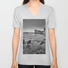 """Submarine Reef"". Sunset at the beach Unisex V-Neck"