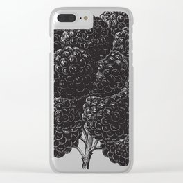 Engraved Blackberry Clear iPhone Case