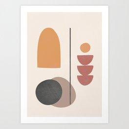 Abstract Minimal Art 02 Art Print