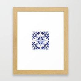 Azulejo V - Portuguese hand painted tiles Framed Art Print