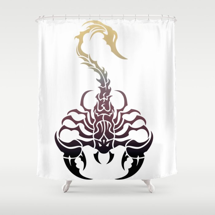 Scorpio, animal print, wild nature, scorpion, zodiac sign, celtic design Shower Curtain