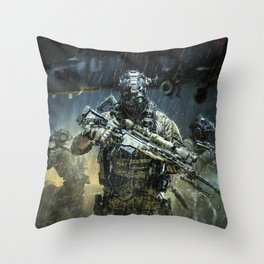 Night time Sniper Hunting Throw Pillow