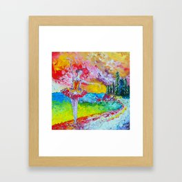 The pursuit of her dream remix Framed Art Print