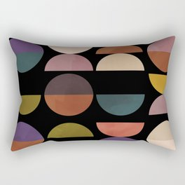 mid century abstract geometric autumn 3 Rectangular Pillow