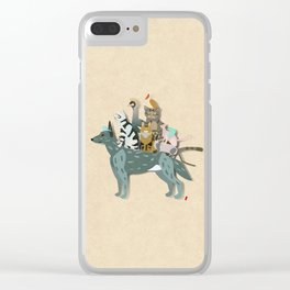 Dogs, cats, birds Clear iPhone Case