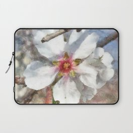 Almond Blossom Study Watercolor Laptop Sleeve