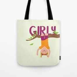 Positively Girly - tree 2 Tote Bag