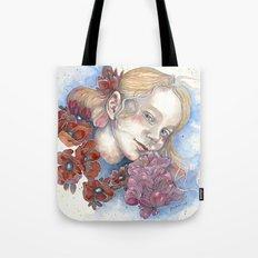 Viola, watercolor portrait Tote Bag