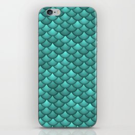 teal scales iPhone Skin
