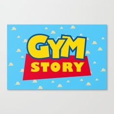Gym Story Canvas Print