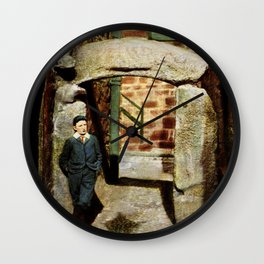 1900 St. Ives Cornwall, The Old Arch, local boy Wall Clock