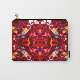 Red abstract mosaic shiny glitter pattern Mandala Carry-All Pouch
