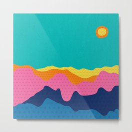 Over The Sunset Mountains III Metal Print
