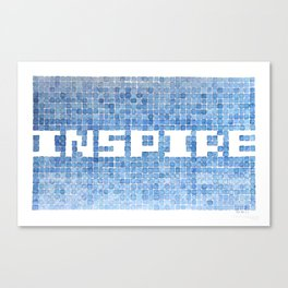 Inspire watercolor mosaic Canvas Print